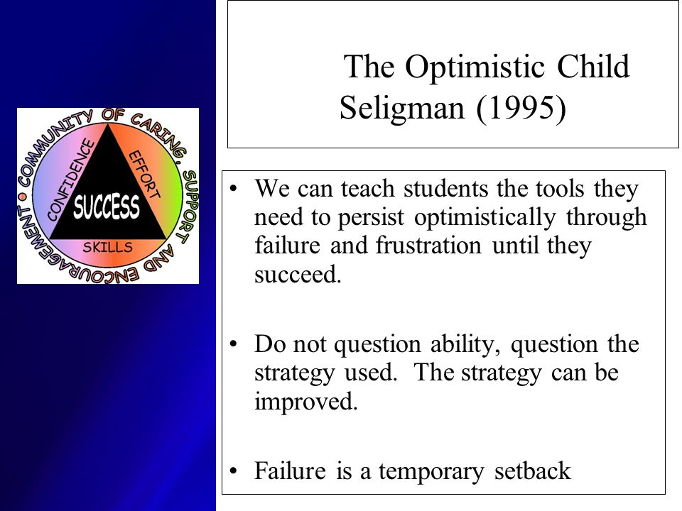 The Optimistic Child Seligman (1995)