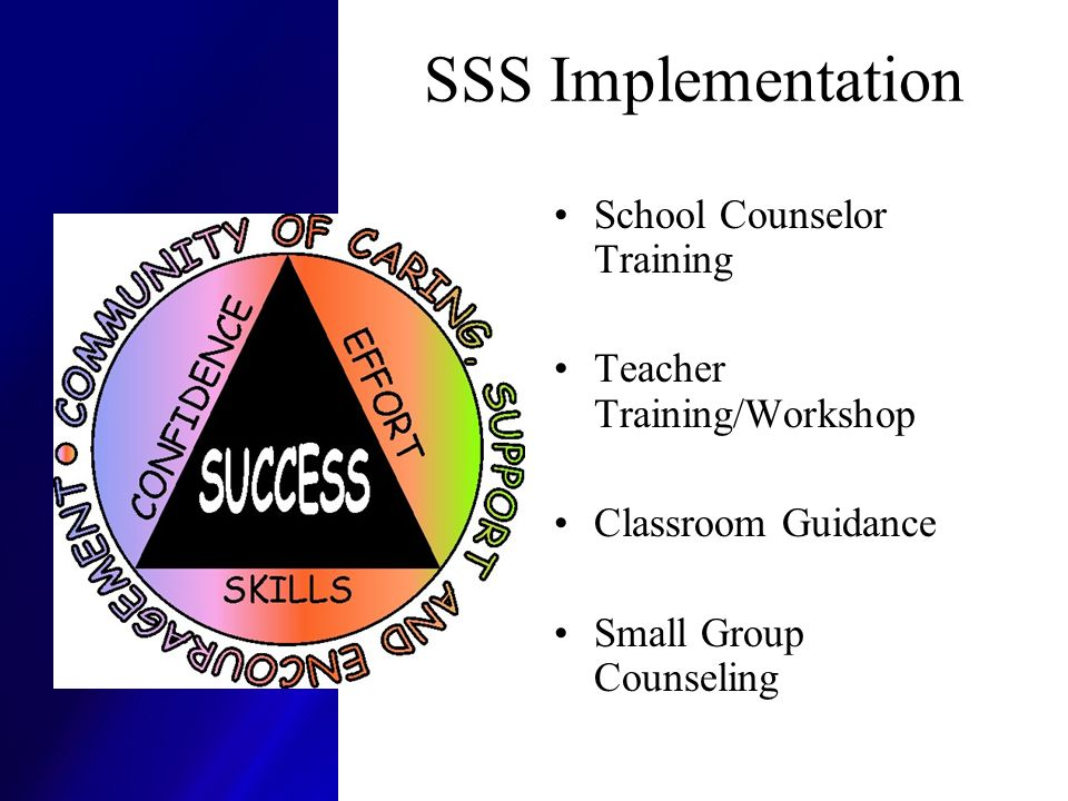 SSS Implementation School Counselor Training Teacher Training/Workshop