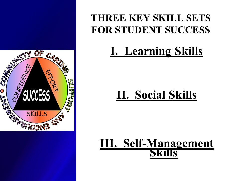 THREE KEY SKILL SETS FOR STUDENT SUCCESS