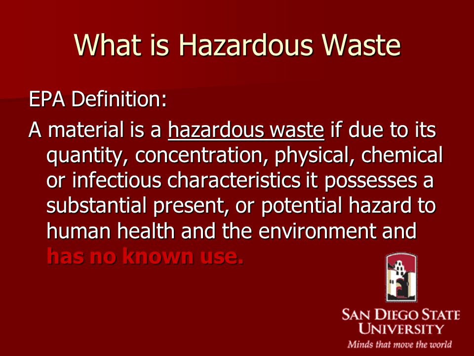 What is Hazardous Waste