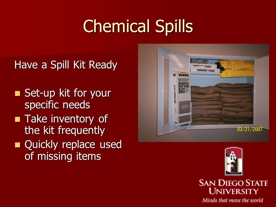 Chemical Spills Have a Spill Kit Ready