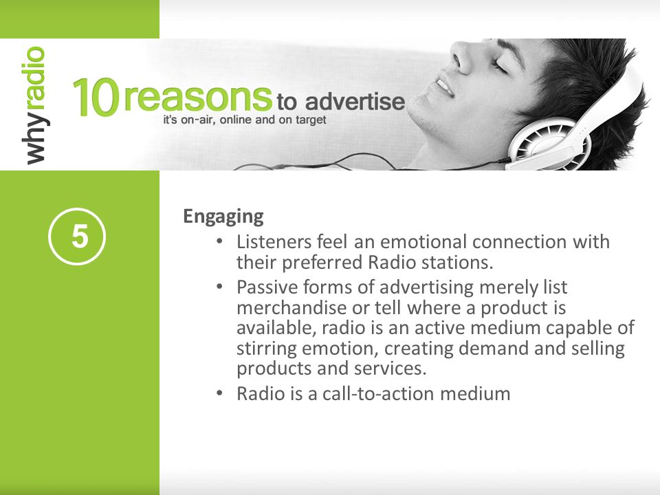 Engaging Listeners feel an emotional connection with their preferred Radio stations.