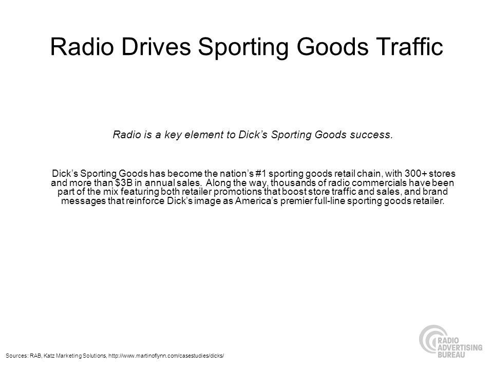 Radio Drives Sporting Goods Traffic