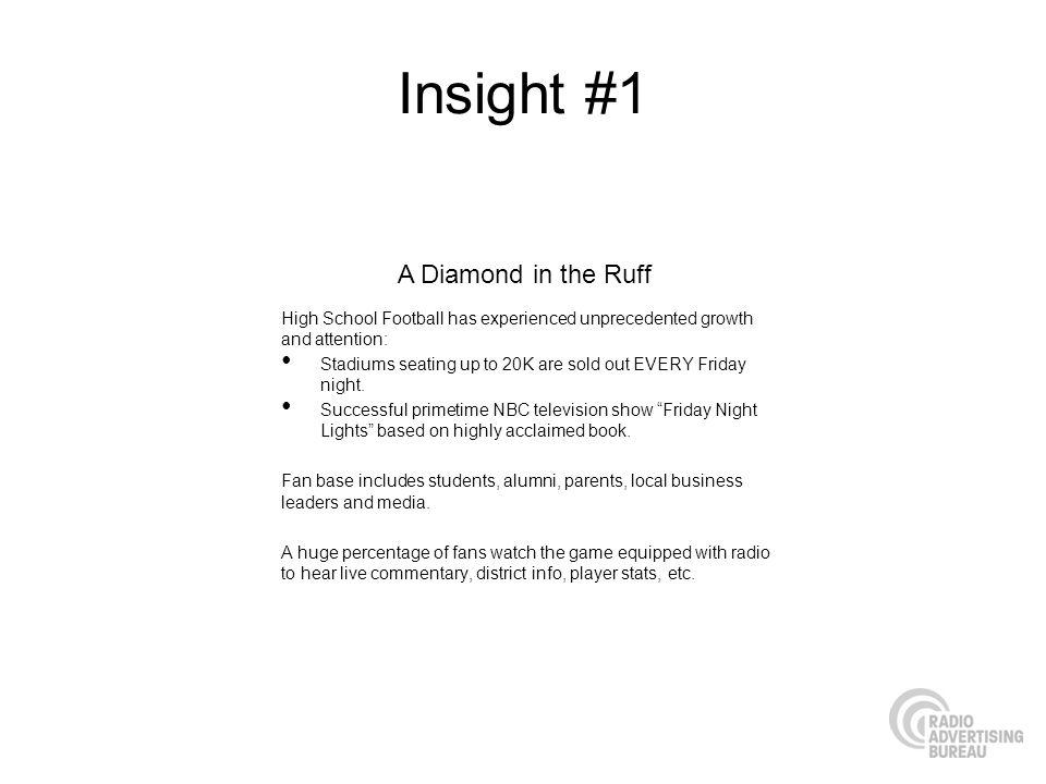 Insight #1 A Diamond in the Ruff