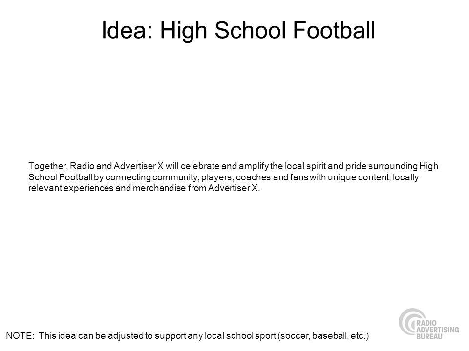 Idea: High School Football
