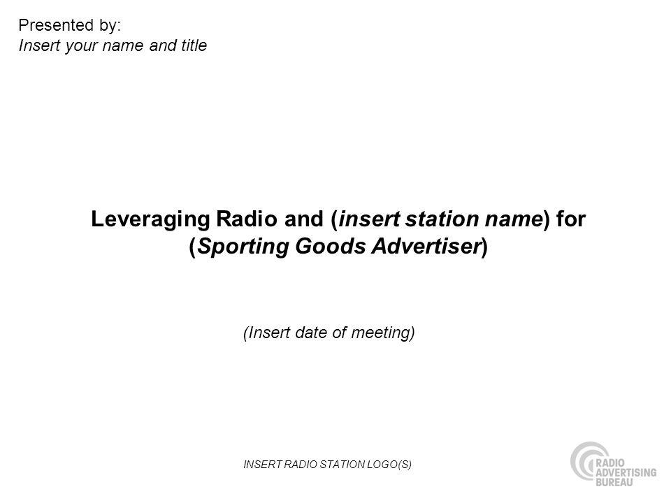 INSERT RADIO STATION LOGO(S)