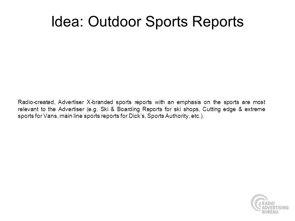 Idea: Outdoor Sports Reports
