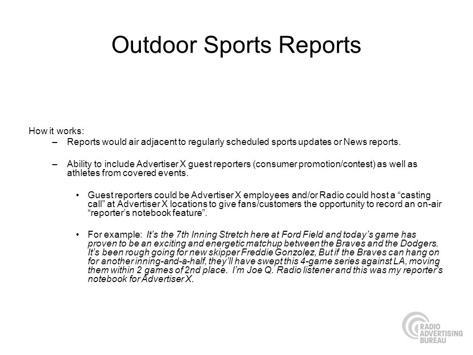 Outdoor Sports Reports