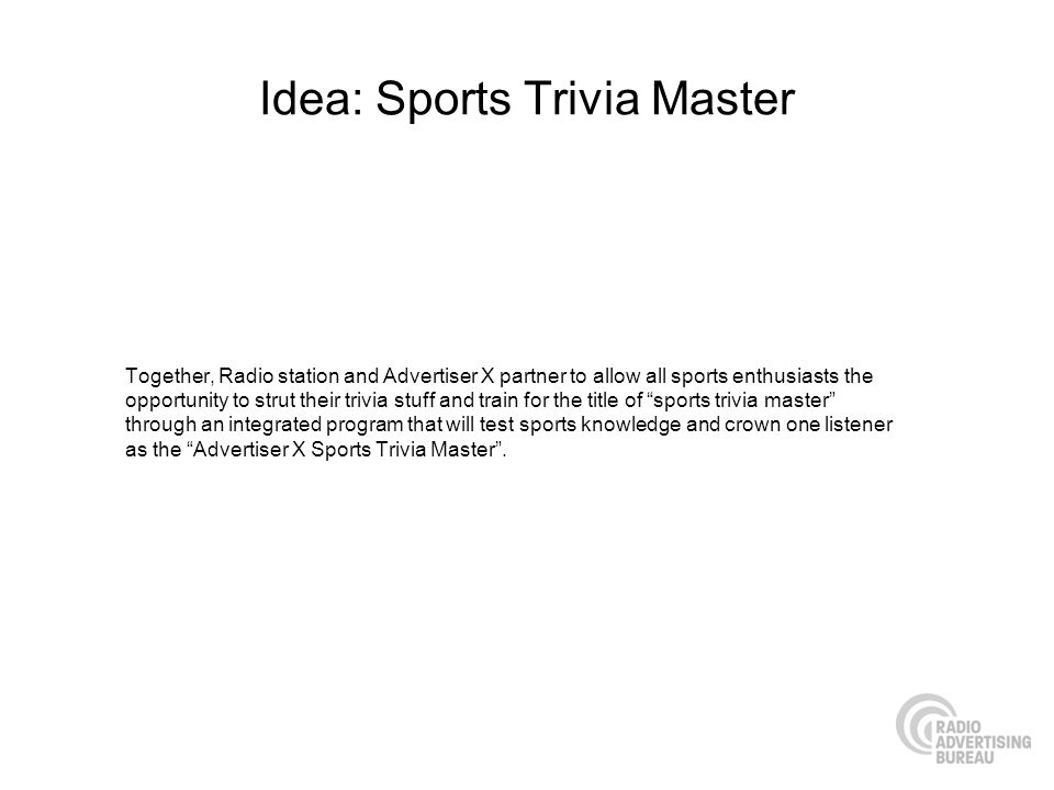 Idea: Sports Trivia Master