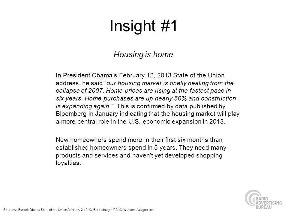 Insight #1 Housing is home.