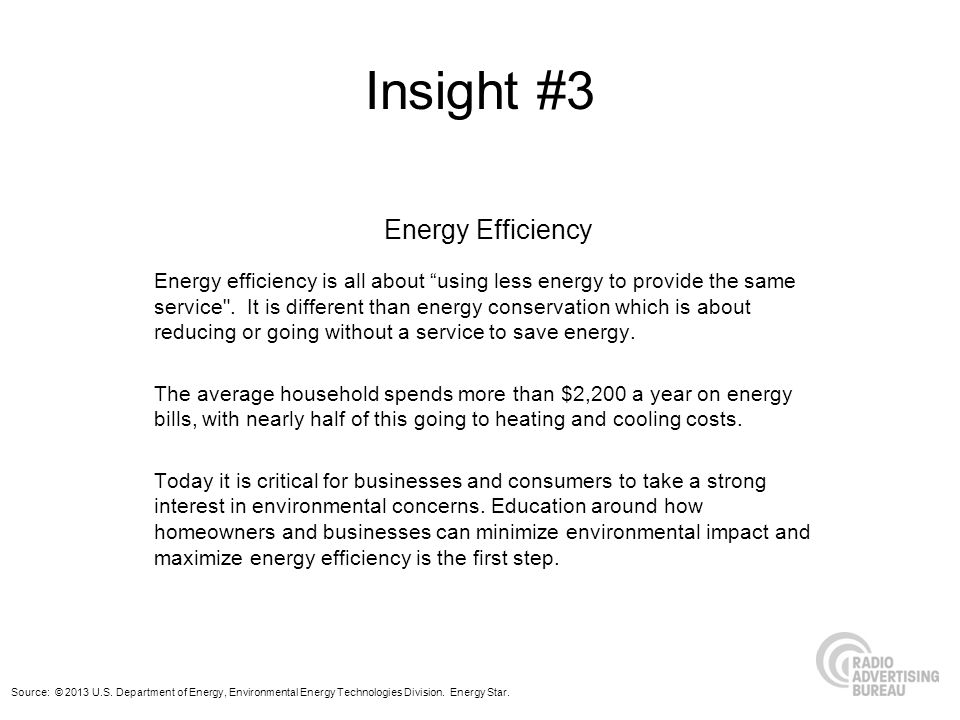 Insight #3 Energy Efficiency