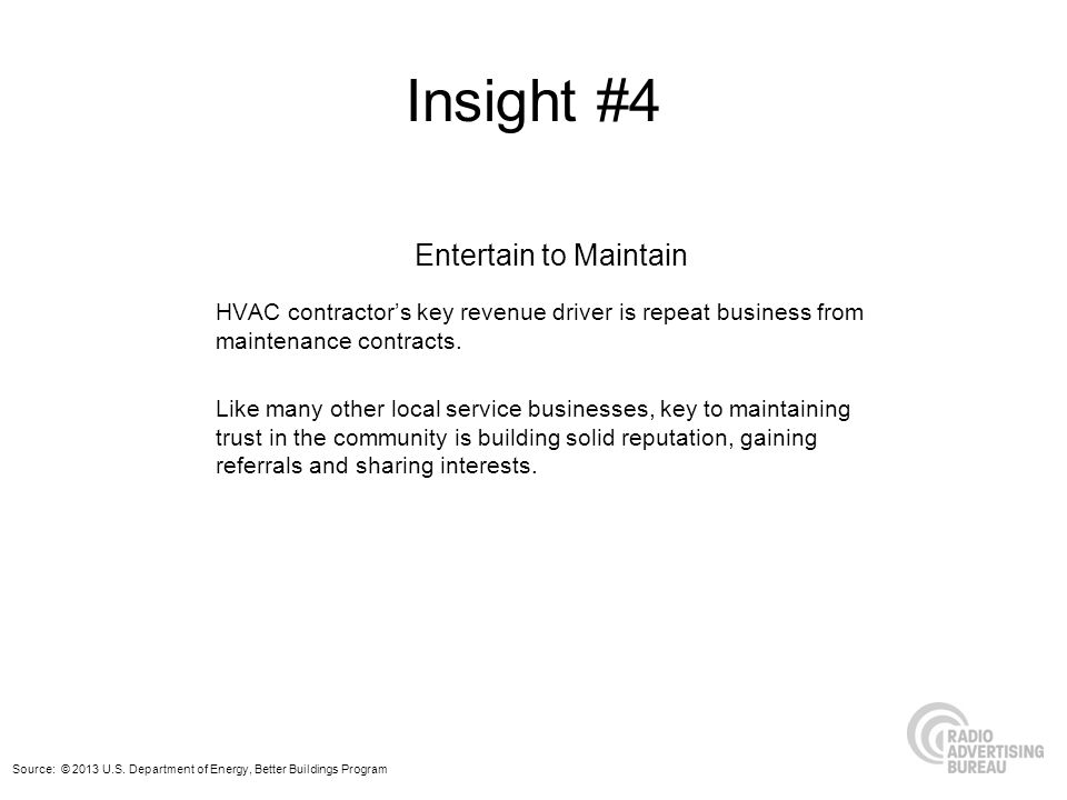 Insight #4 Entertain to Maintain