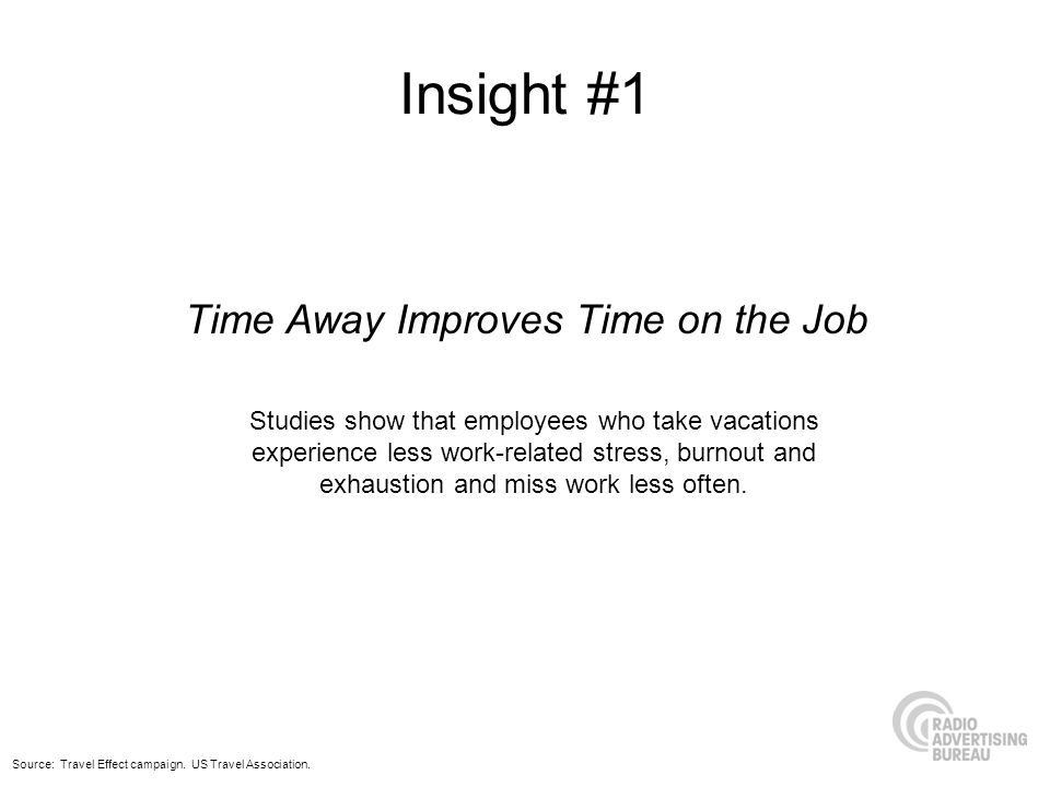 Time Away Improves Time on the Job