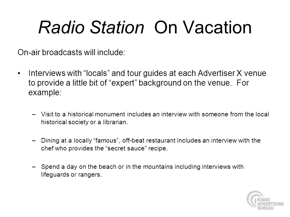 Radio Station On Vacation