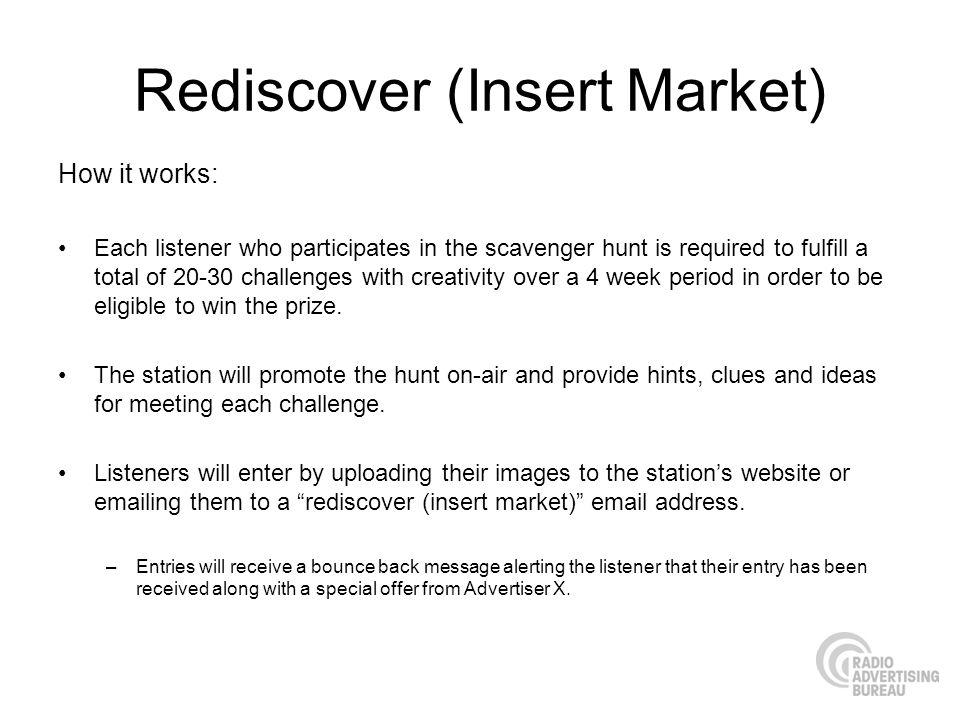 Rediscover (Insert Market)