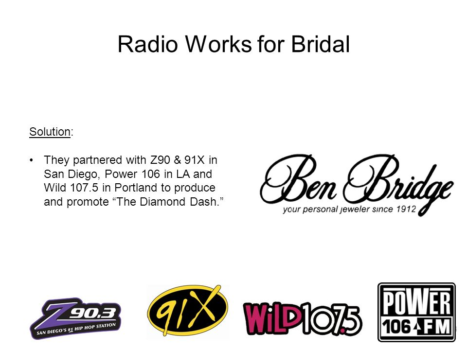 Radio Works for Bridal Solution:
