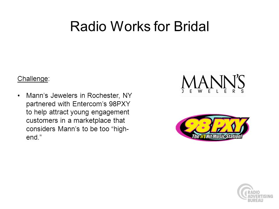 Radio Works for Bridal Challenge: