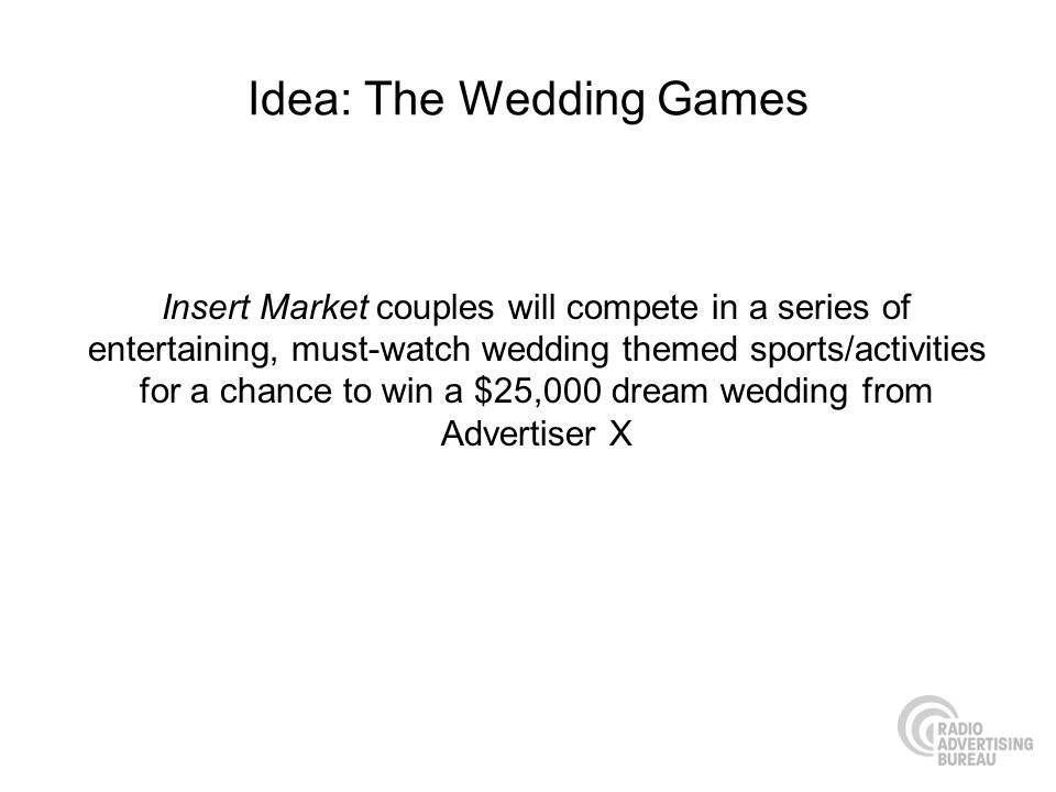 Idea: The Wedding Games