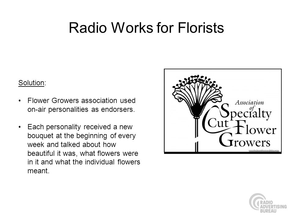Radio Works for Florists