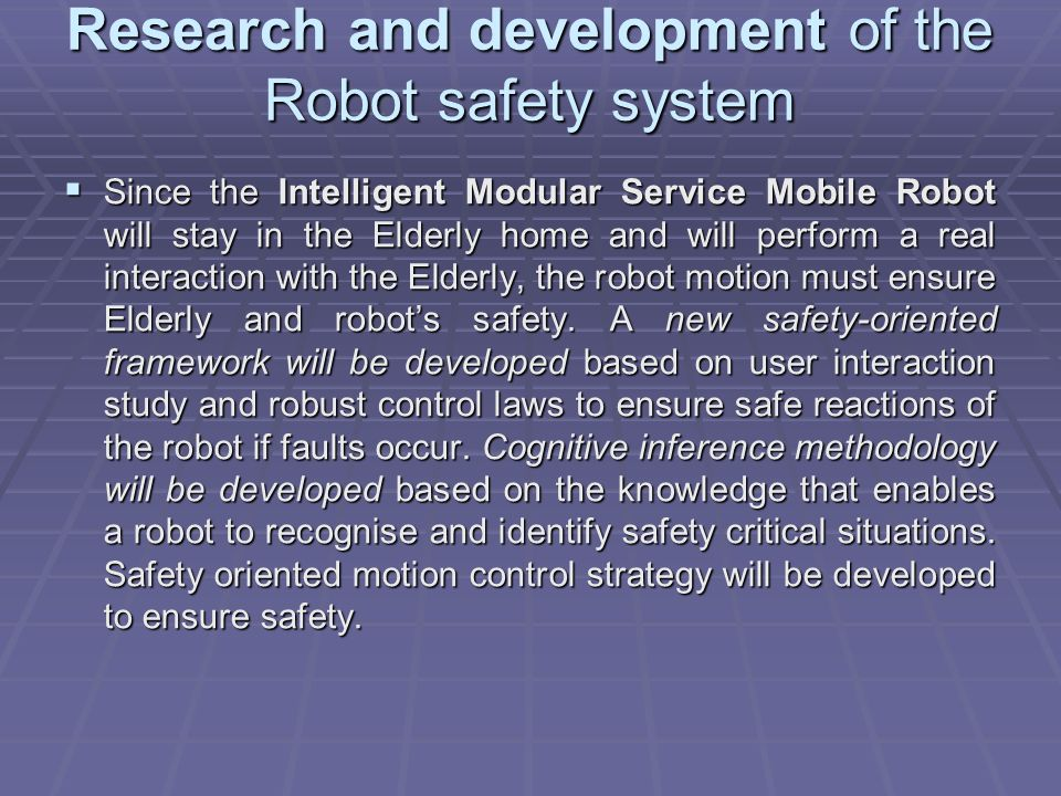 Research and development of the Robot safety system