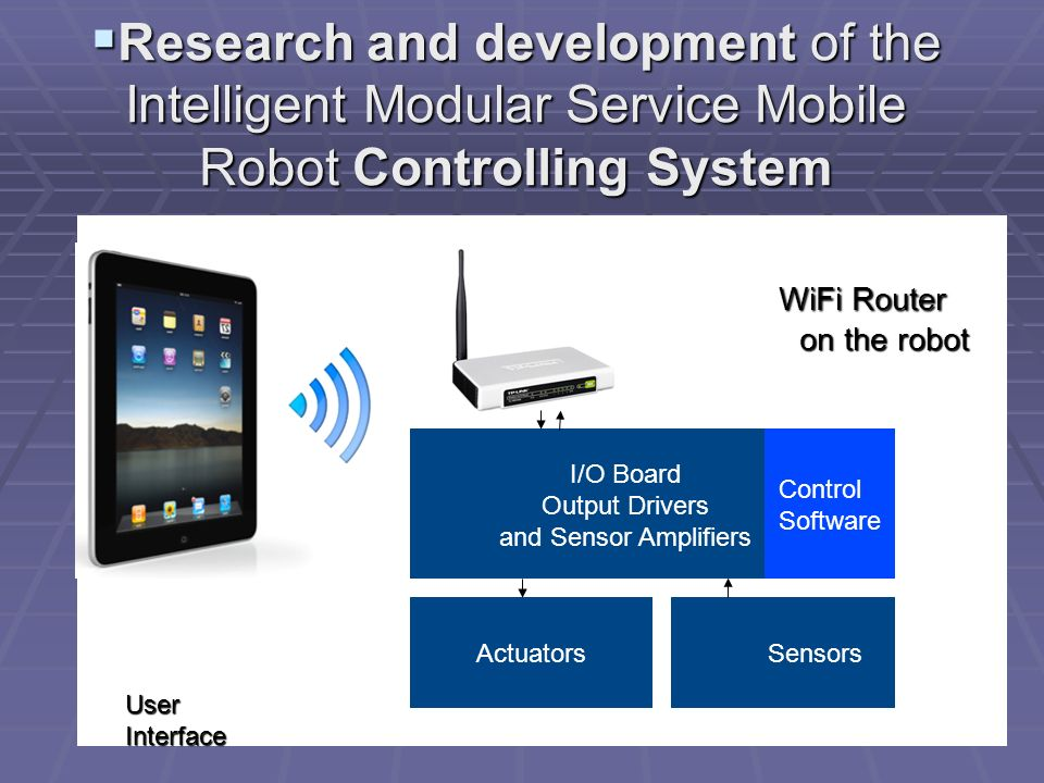 Research and development of the Intelligent Modular Service Mobile Robot Controlling System