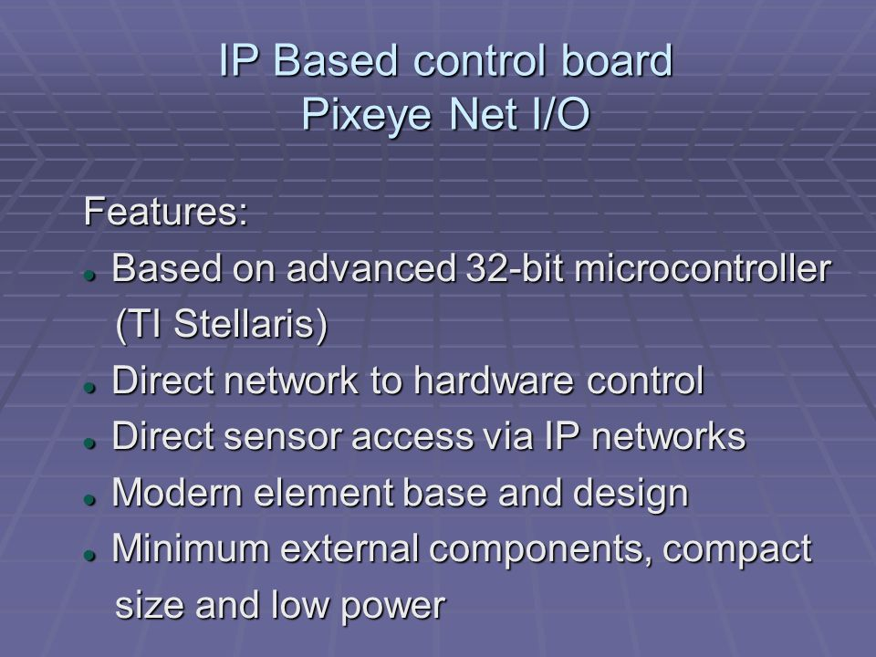 IP Based control board Pixeye Net I/O