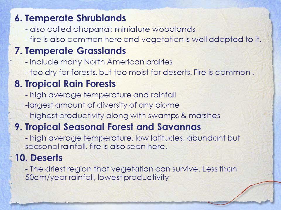 9. Tropical Seasonal Forest and Savannas