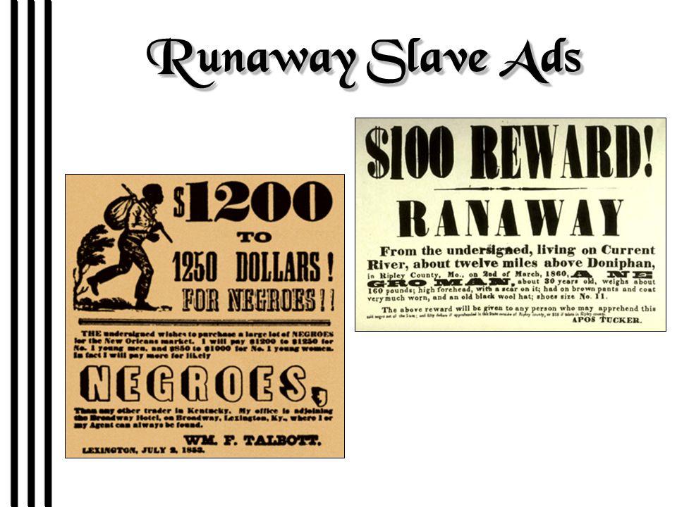 Runaway Slave Ads