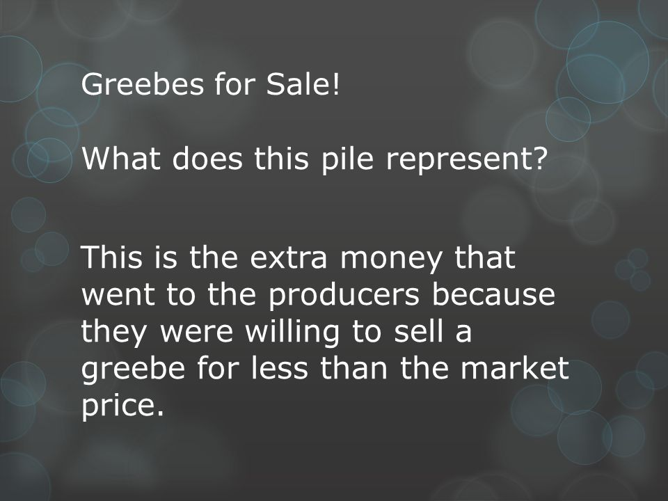 Greebes for Sale!