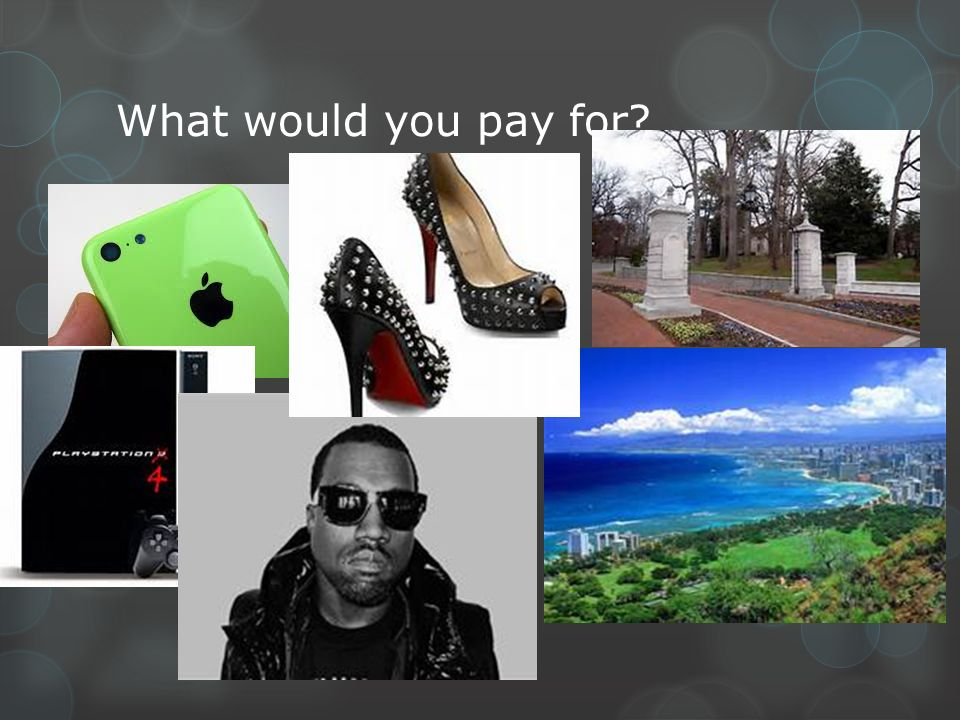 What would you pay for