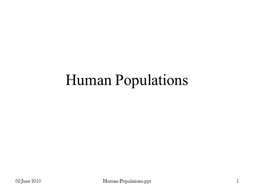 Human Populations 02 June 2010 Human-Populations.ppt 1
