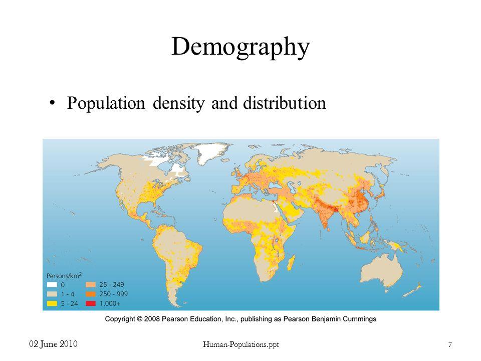 Demography Population density and distribution 02 June 2010