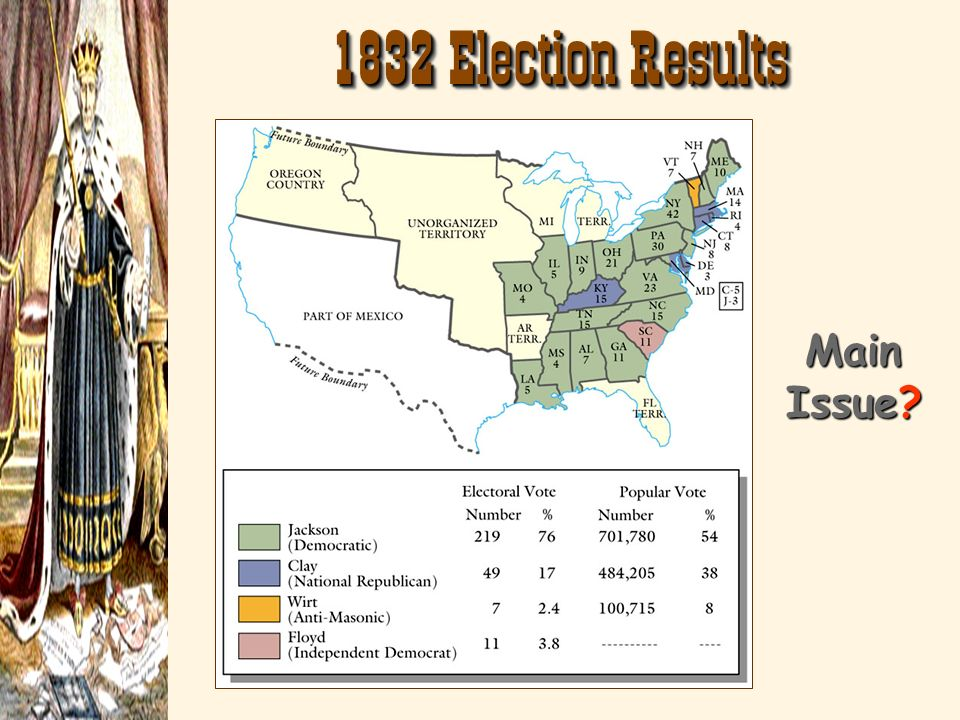 1832 Election Results Main Issue