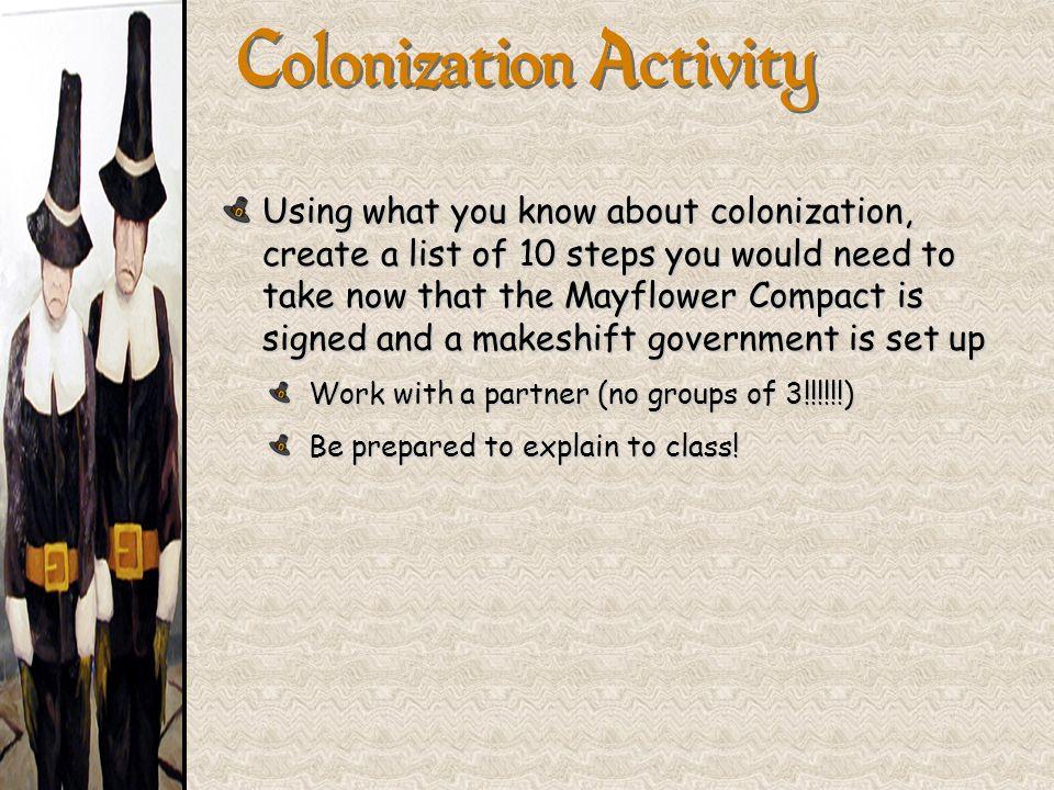 Colonization Activity