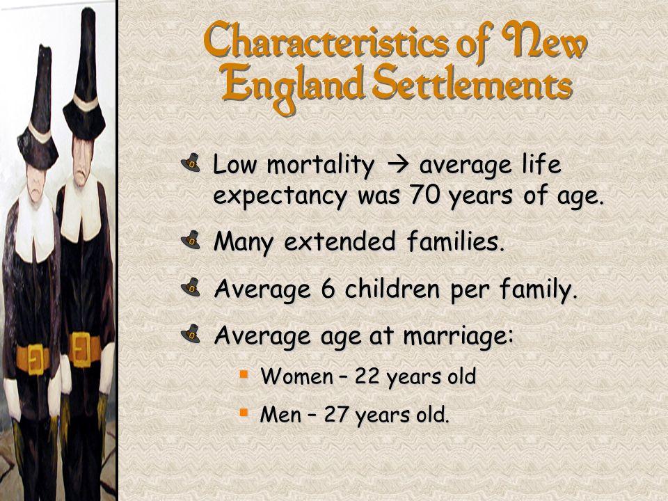 Characteristics of New England Settlements
