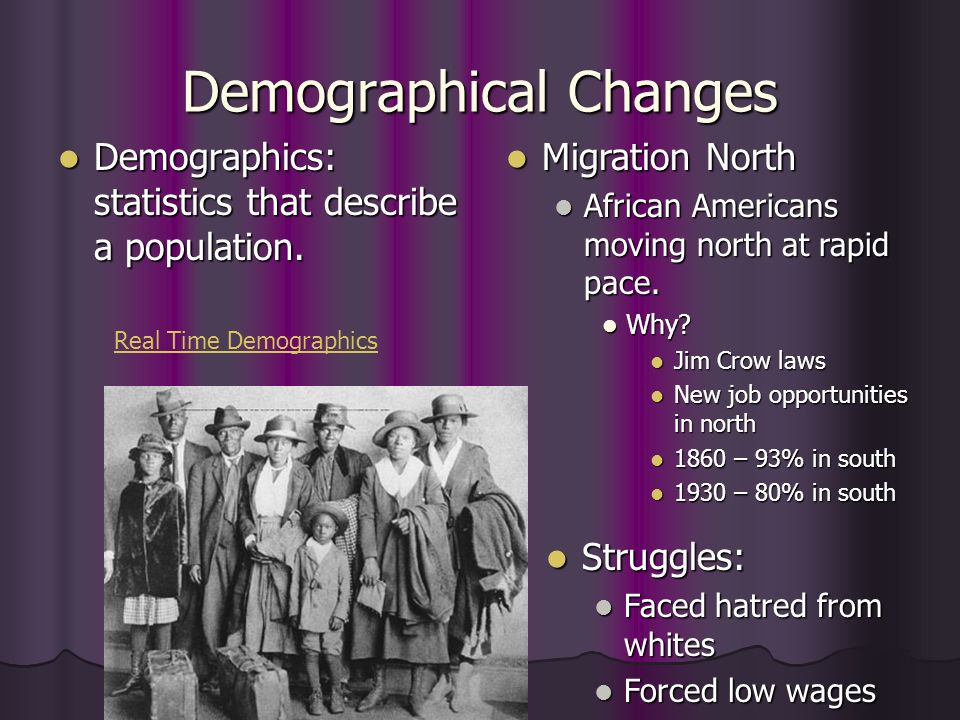 Demographical Changes
