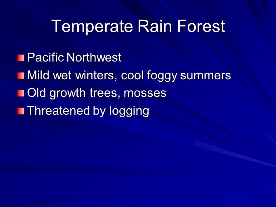 Temperate Rain Forest Pacific Northwest