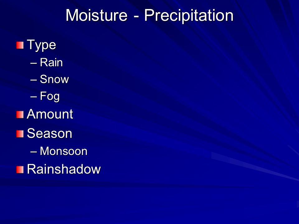 Moisture - Precipitation