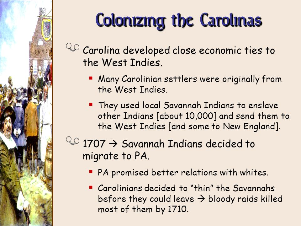 Colonizing the Carolinas