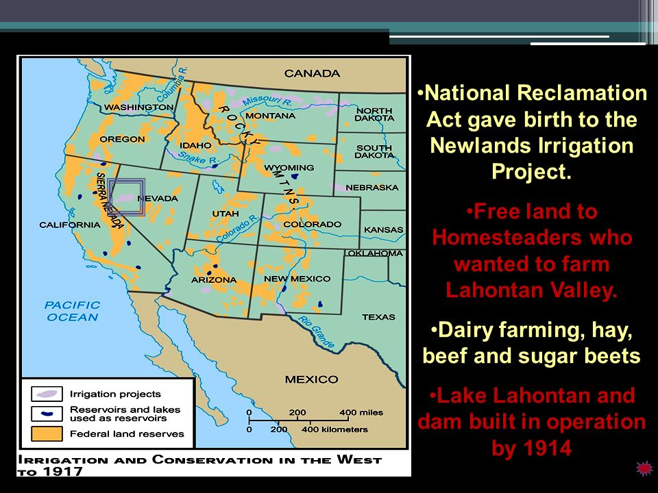 Free land to Homesteaders who wanted to farm Lahontan Valley.