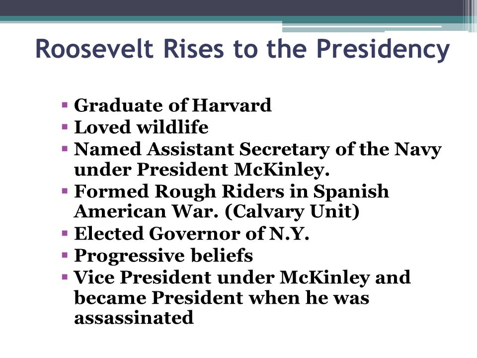 Roosevelt Rises to the Presidency