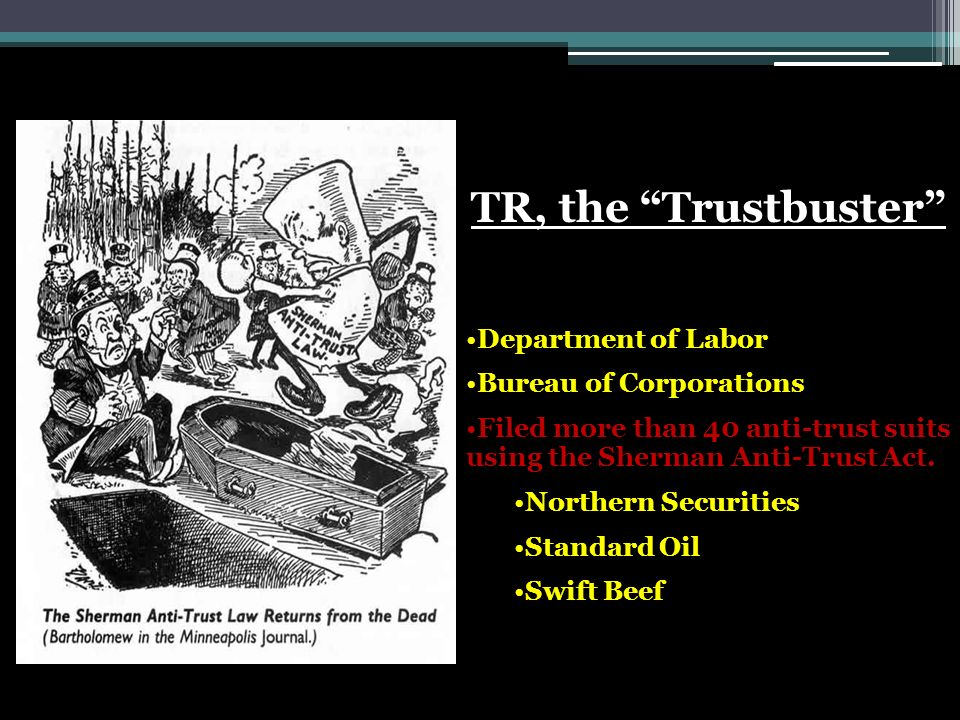 TR, the Trustbuster Department of Labor Bureau of Corporations