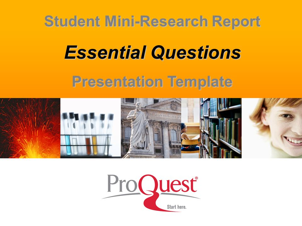 Student Mini-Research Report Presentation Template