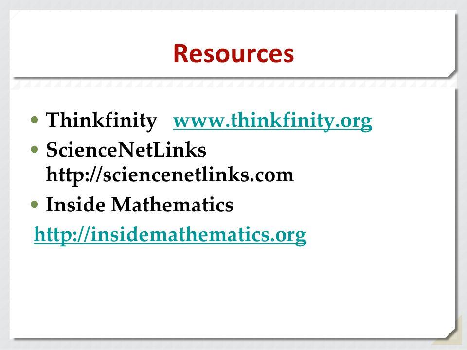 Resources Thinkfinity www.thinkfinity.org
