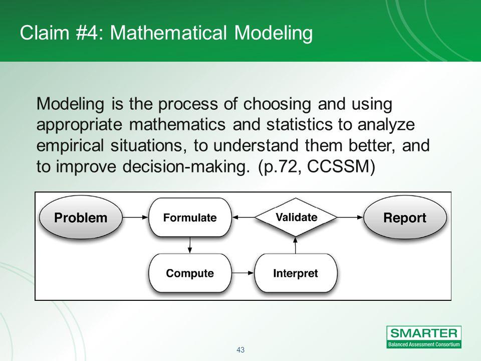 Claim #4: Mathematical Modeling