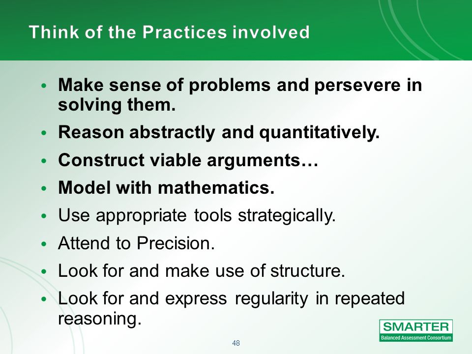 Think of the Practices involved
