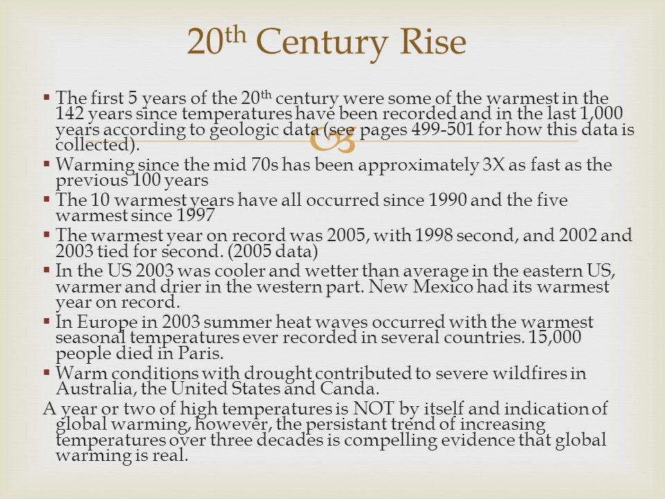 20th Century Rise