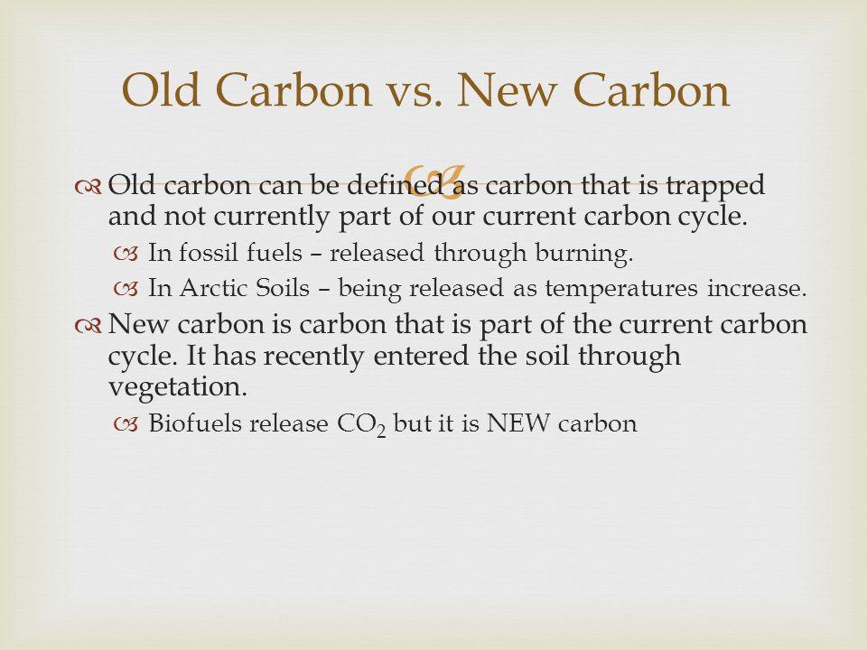 Old Carbon vs. New Carbon