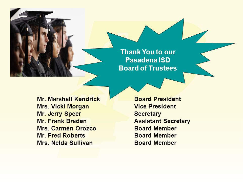 Thank You to our Pasadena ISD