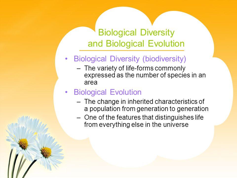 Biological Diversity and Biological Evolution